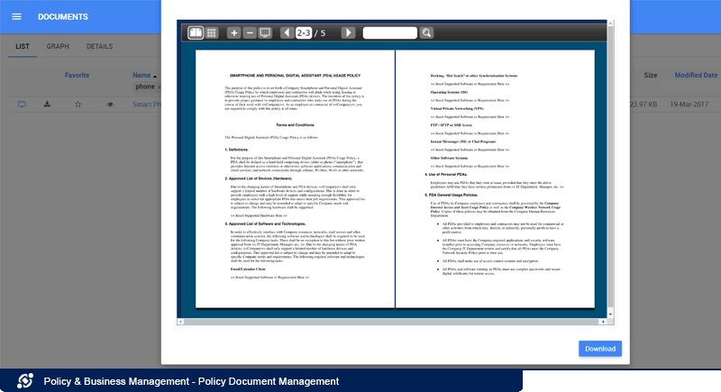 Policy Document Management