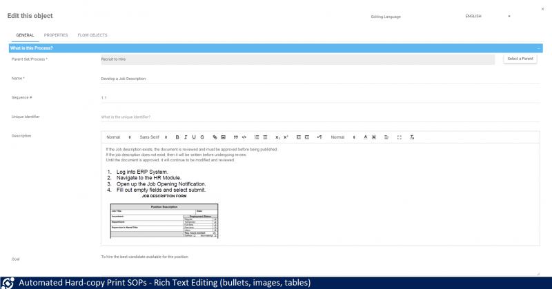 Process Procedure | SOP Policy | SOP Software | Interfacing