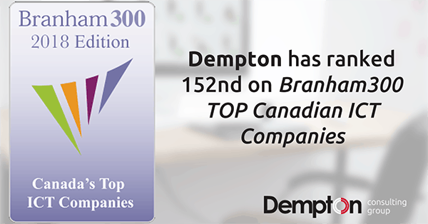 Interfacing's sister company ranked 152nd on TOP Canadian Companies!