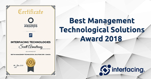 Interfacing Wins Best Management Technological Solutions Award