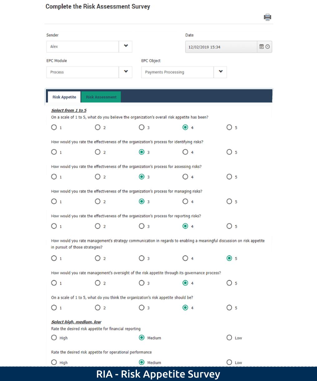 1-2 RIA - Risk Appetite Survey