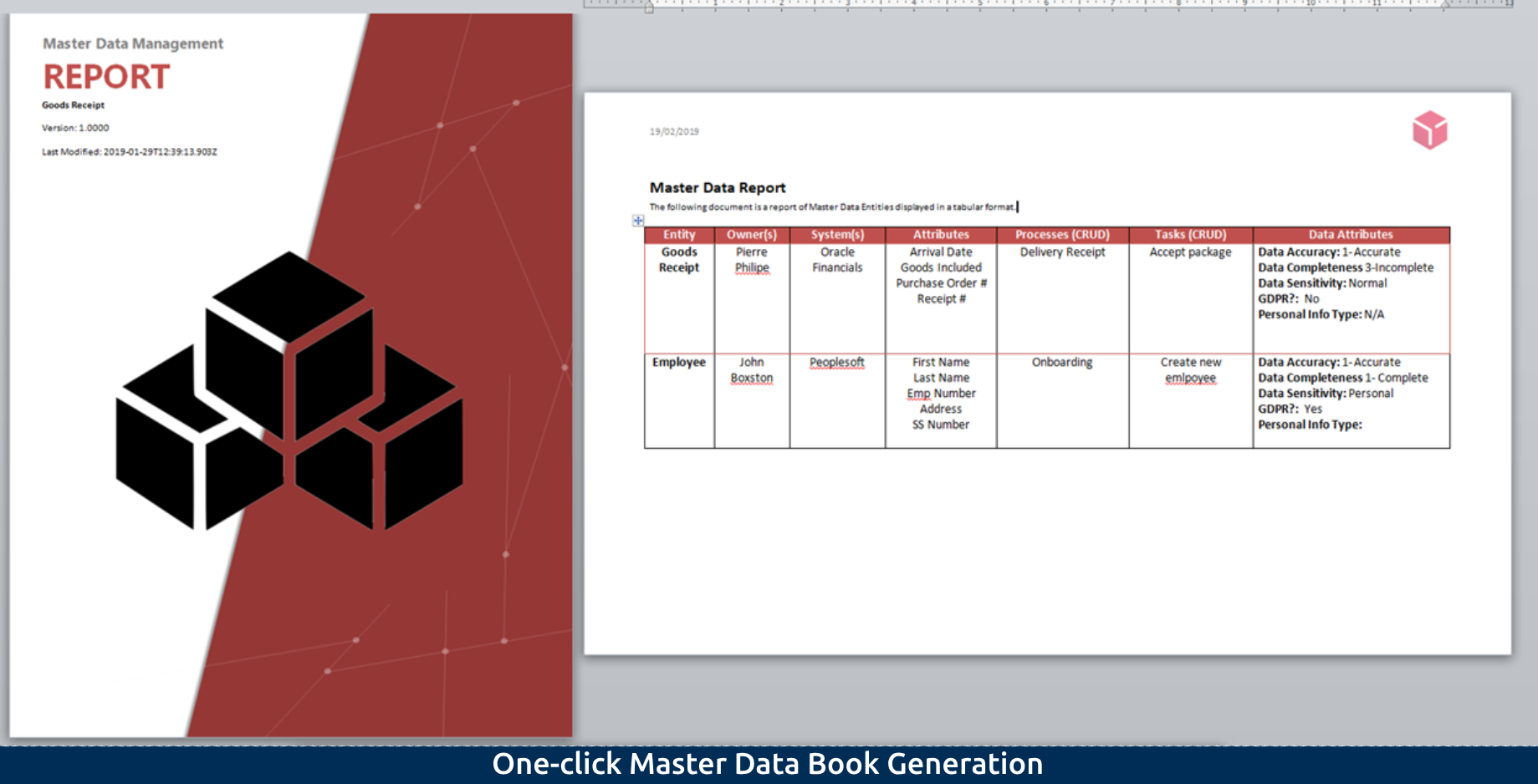 5-2 One-click Master Data Book Generation